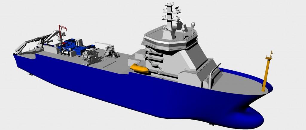 Implantation du système de manutention de câbles OPUS sur le navire Ile de Sein